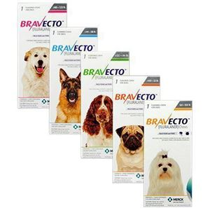 Bravecto 250 mg x 1 tbl-4.5-10 kg pentru caini