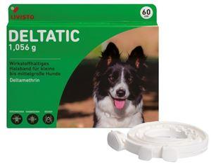 Deltatic 60 cm, zgardă antiparazitară pentru câini de talie mica si medie